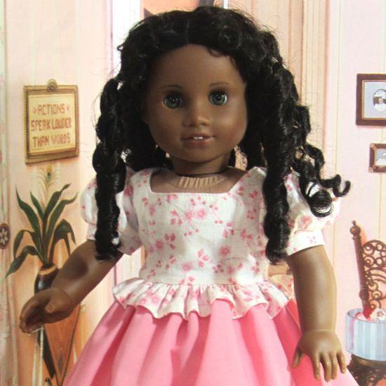 18 Inch Doll Clothes for American Girl Dolls - A Day Dress for Marie-Grace, Cecile, or Addy