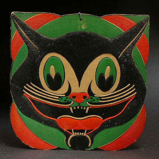 vintage Halloween cat