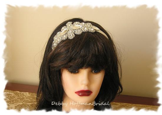 Bridal Wedding Head Piece Crystal Rhinestone by DebbyHoffmanBridal, $54.00