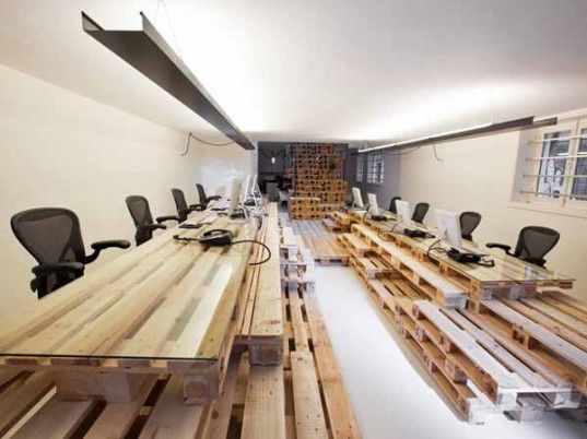 Amazing Amsterdam Office Built Entirely From Wood Shipping Pallets