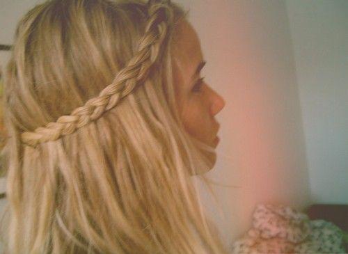 messy braid beach hair