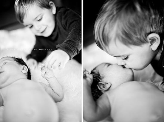 sibling love. newborn.  fiona andersen photography