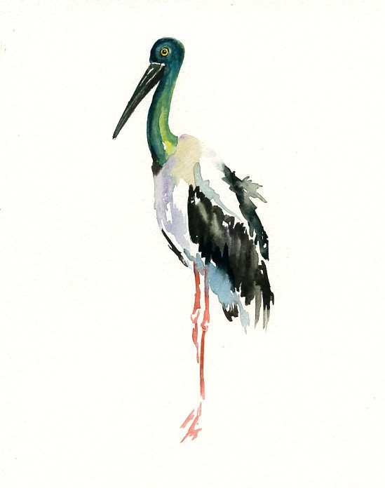 JARIBOU by DIMDI Original watercolor painting 8X10inch by dimdi, $25.00