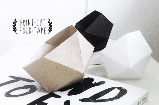 DIY geometric paper bowl
