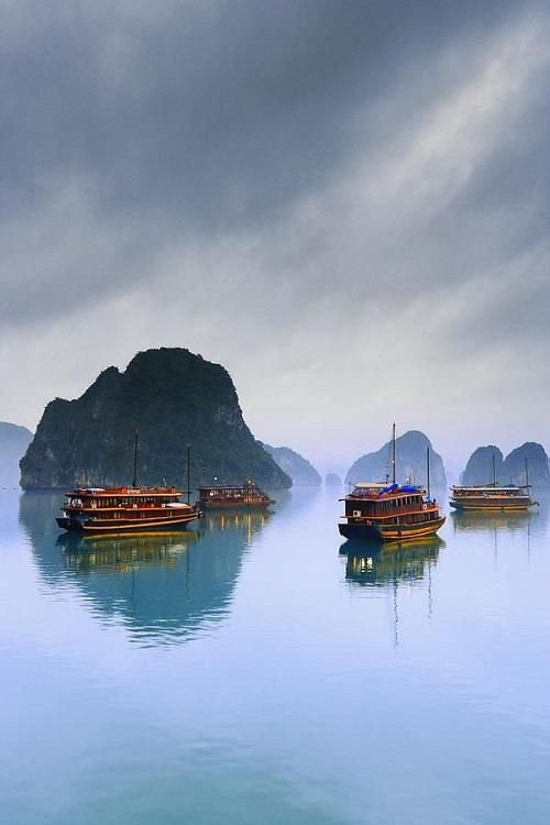 Beautiful sites in the mystic Halong Bay, #Vietnam. #travel  Photo by Carson Ganci