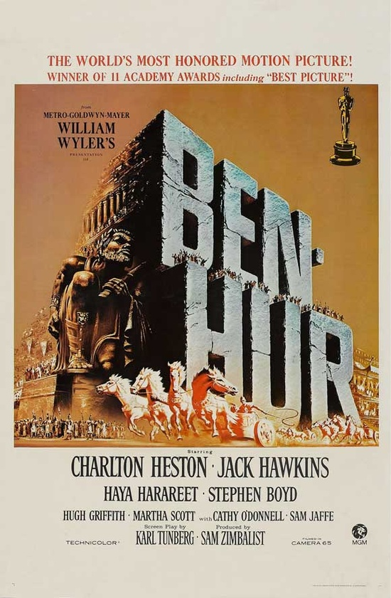 Charlton Heston - Ben Hur, 1959 my grandfather worked on this film.