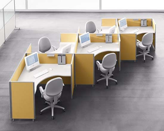 Yellow office furniture for modern office