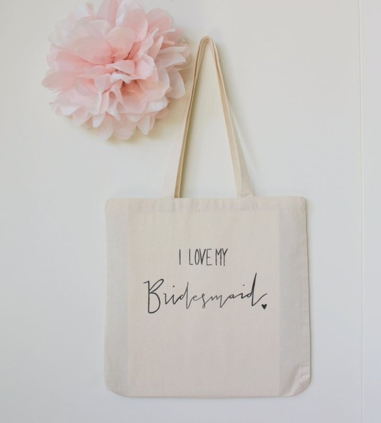 Bridal Party Gift Bag For the Bridesmaid. 10.00, via Etsy.