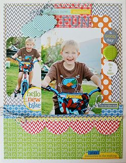 #papercraft #scrapbook #layout June 2013 PageMaps