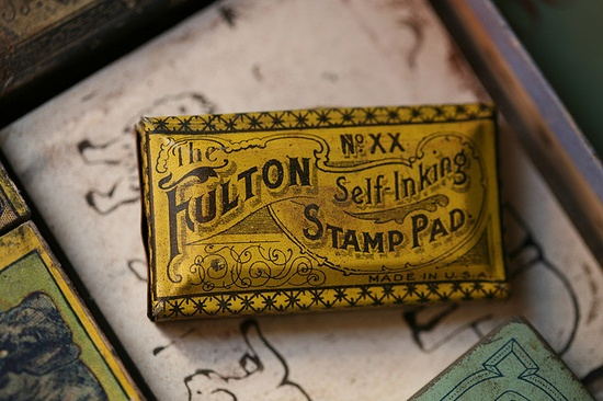Fulton Self-Inking Stamp Pad by the snail and the cyclops, via Flickr