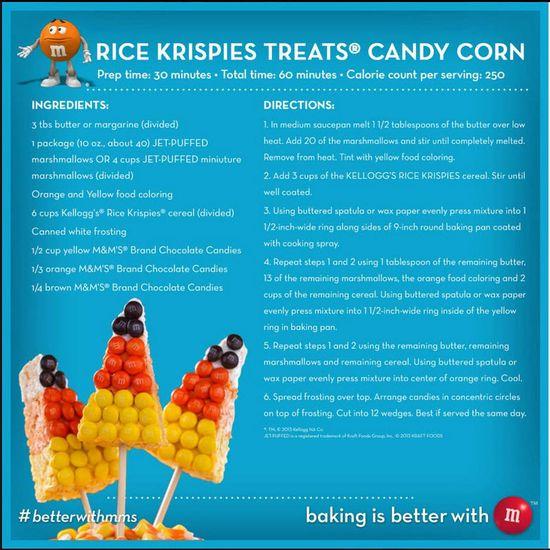 Rice Krispy Treats Candy Corn