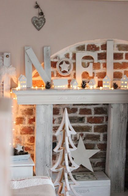 All white Christmas decor