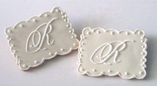 wedding cookies photo: Wedding Monogram Cookies cookieweddingmonogram.jpg