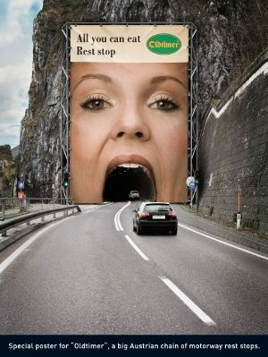 you're going down this girl's stomach. #funny #advertising