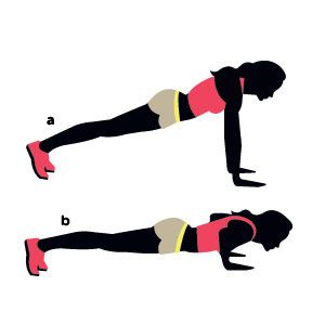Fry fat in just 15 minutes with this routine! Pictured: Classic pushup. The 5 other moves to do: www.womenshealthm...