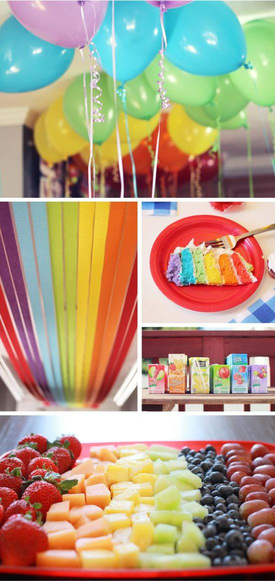 Rainbow Birthday Party + Wizard of Oz via Kara's Party Ideas - www.KarasPartyIde...