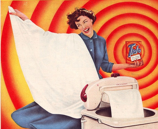 Looks like it's high tide time! ;D #vintage #1950s #ad #laundry #homemaker #housewife