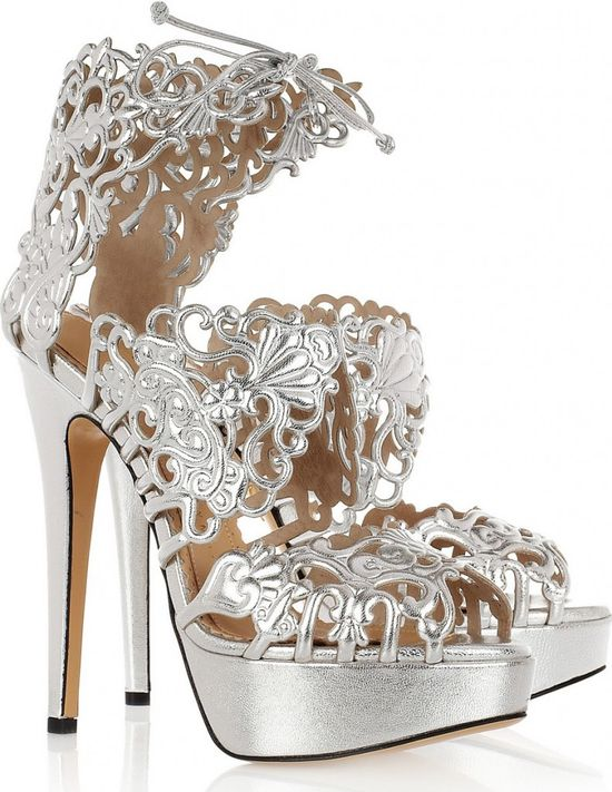 Charlotte Olympia...#shoes #stilettos #silver