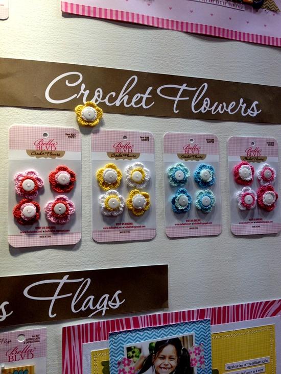 NEW Bella Blvd CHA - Crochet Flowers - Scrapbook.com