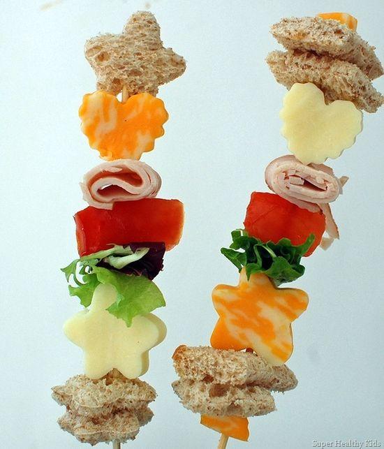 stick sandwiches- healthy food kids love!