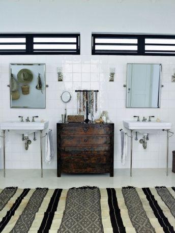 Bathroom with retro