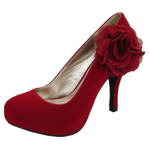 Red Rose Pump Shoe