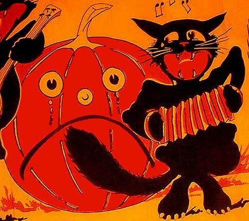 Black Cat Accordian--Crepe Paper