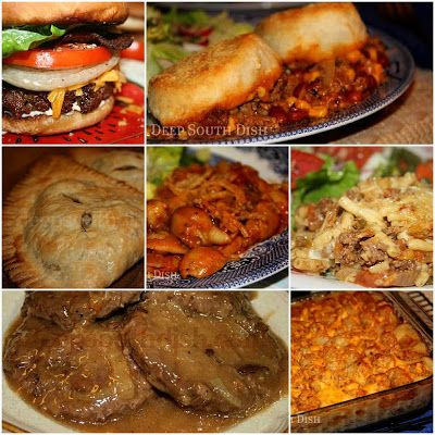 25 Terrific Ground Beef Recipes ---  they're all right here on this one page.