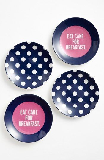 kate spade Eat Cake for Breakfast plates (set of 4) (Nordstrom Exclusive) available at #Nordstrom