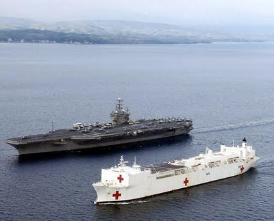 air craft carrier and hospital