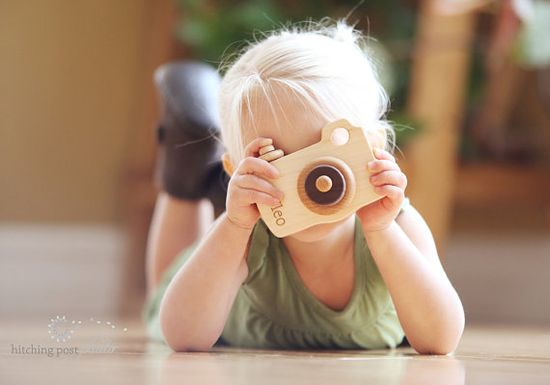 natural toy CAMERA  an all natural hardwood by SmilingTreeToys, $26.00