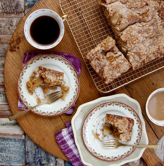 Pear Crumble Coffee Cake by joy the baker, via Flickr