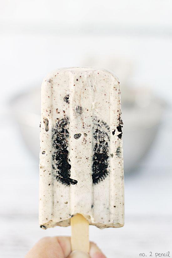 Oreo pudding pops
