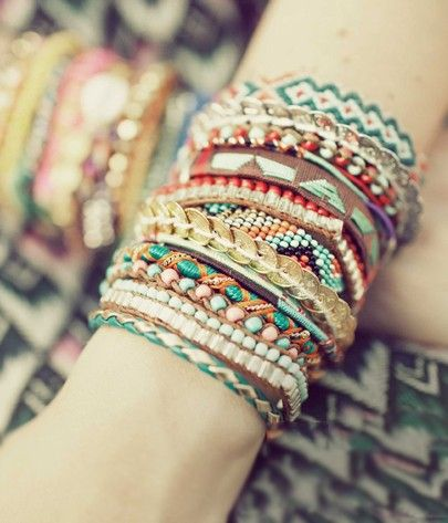 boho braided braceletes