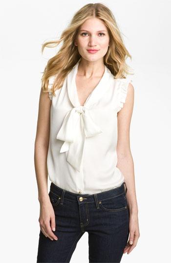 kate spade new york 'morgan' silk top available at #Nordstrom