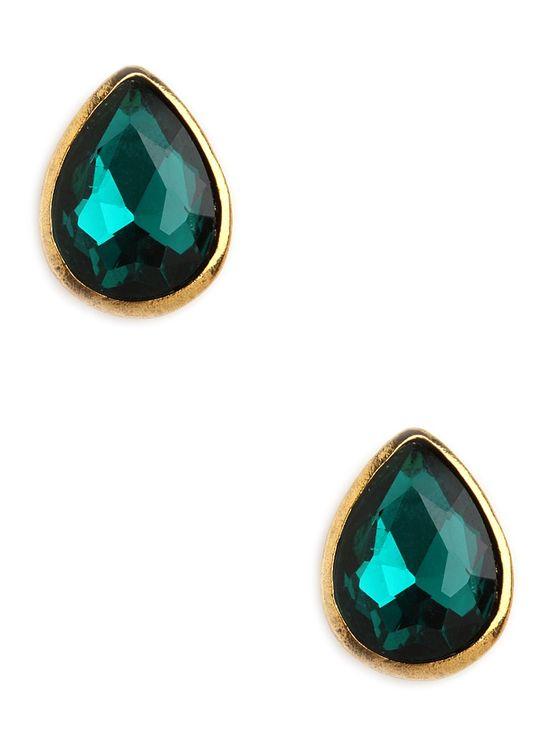 Emerald Tear Studs