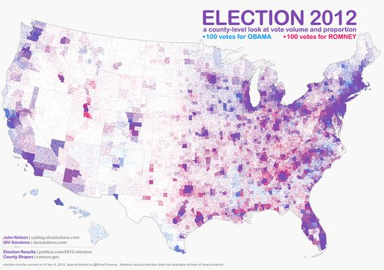 Forget Red And Blue. The Most Accurate Map Of U.S. Voters Is Purple