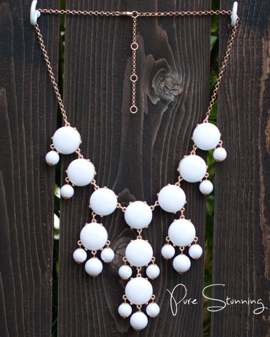 J Crew Bubble Necklace Inspired  White Bubble by PureStunning, $18.00