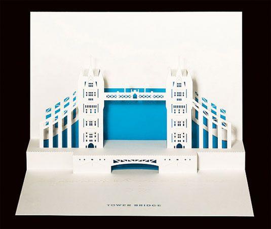 london 3D greeting card