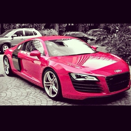 Pink Audi R8 - would you be seen driving this? Well us duh lol