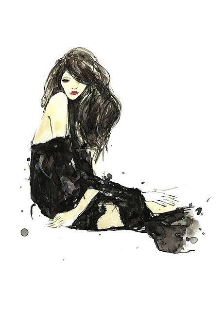 [ Black splash ] Vita Yang #fashion #illustration