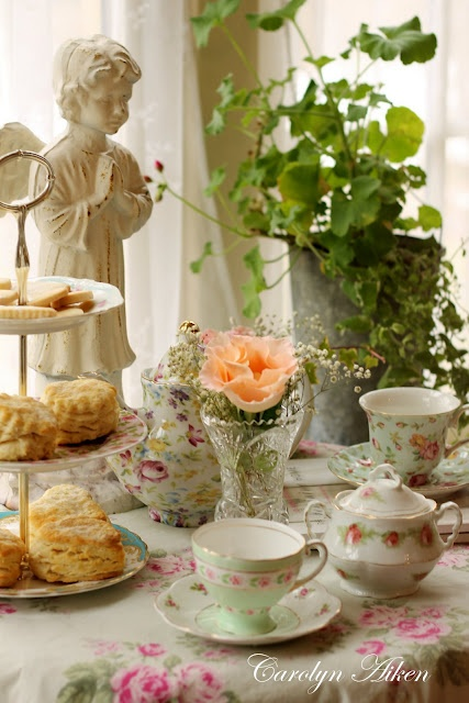 """I have been a lover of afternoon tea time for many many years & love having a  """"high tea""""...that is also something that I taught my granddaughters...how to set the tea table and to pour and serve a """"proper"""" cup of tea...our tea parties were so memorable!"""