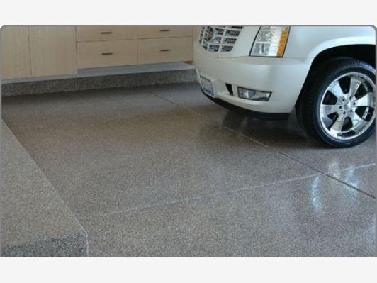 Floor design idea for a garage