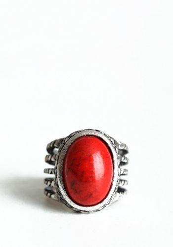 World Go Around Ring in Red