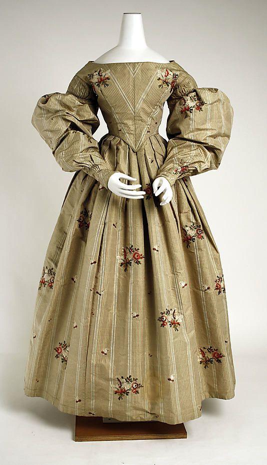 c. 1836 dress, British. Silk. The MET