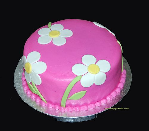 Daisy cake, simple and sweet