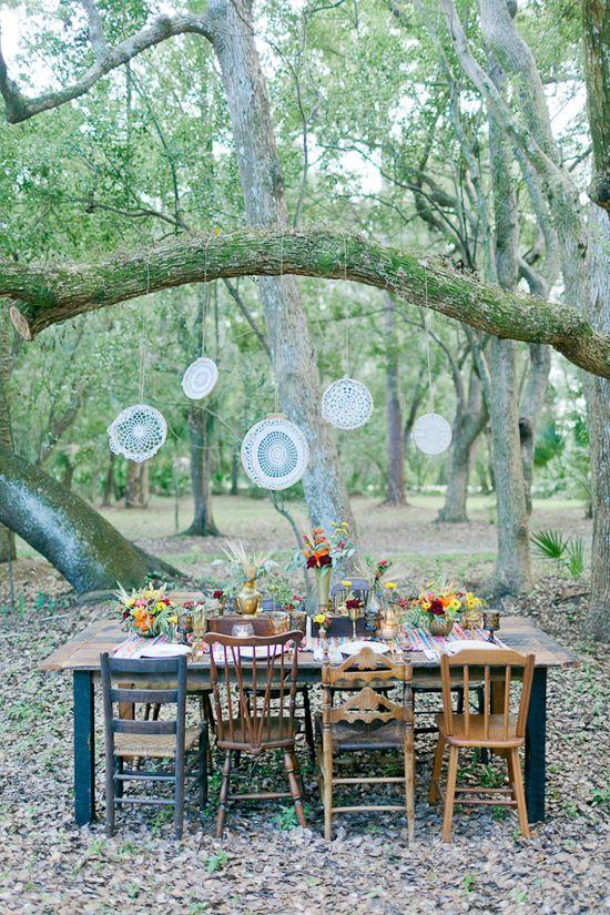 Fall Bohemian wedding inspiration