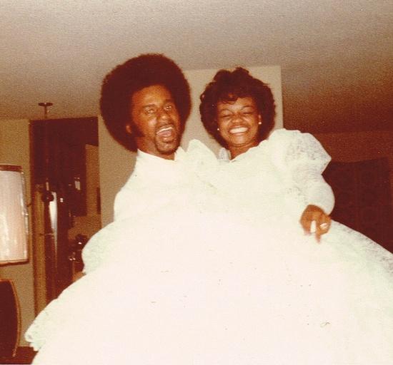 A vintage wedding photo!