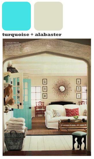 turquoise interior door