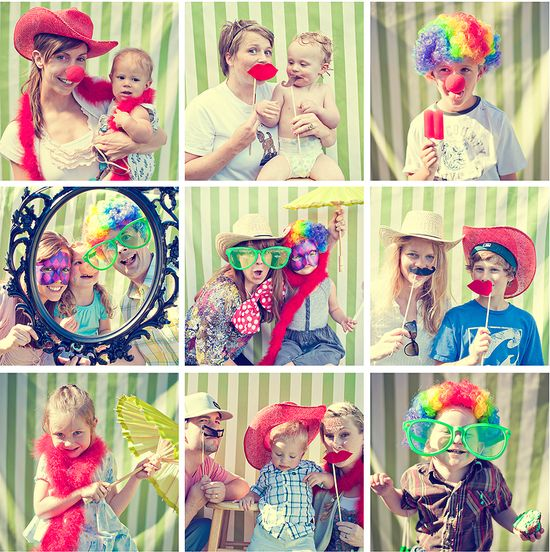 Aria Photography - Carnival party ideas - Photo booth